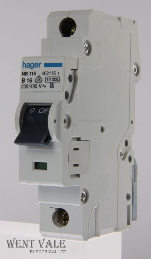 Hager NB116 - 16a Type B Single Pole MCB Used